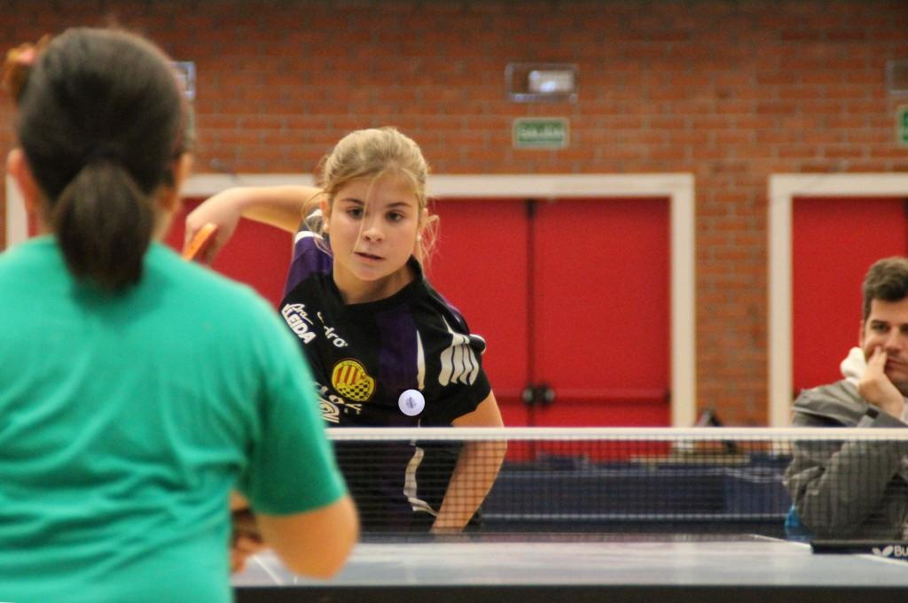 Vinyet Solans, jugadora alevina del CTT Balaguer