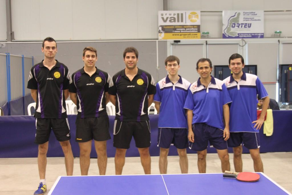 Jugadors del CTT Balaguer i del CTT Igualada (Foto: Rosa Sauret)