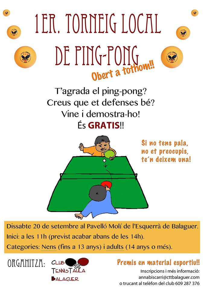 Cartell del Torneig (CTT Balaguer)