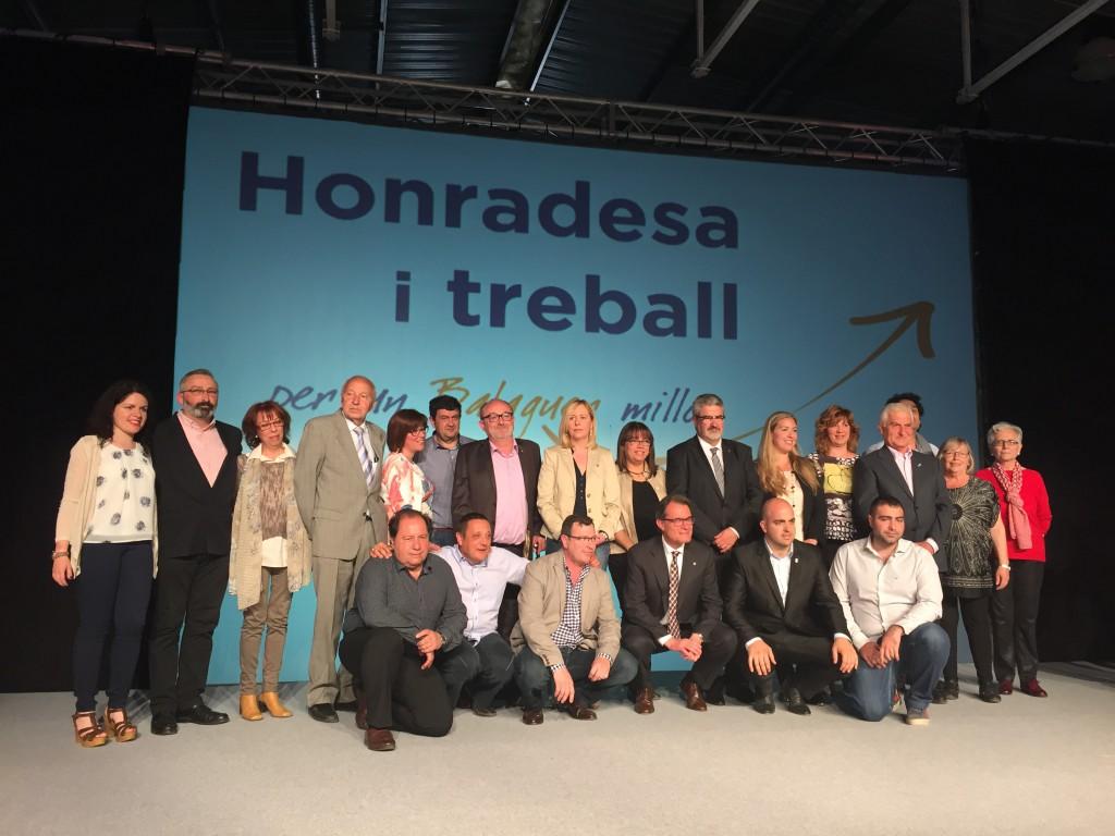 Presentació llista CiU amb Artur Mas (Autor: Balaguer TV)