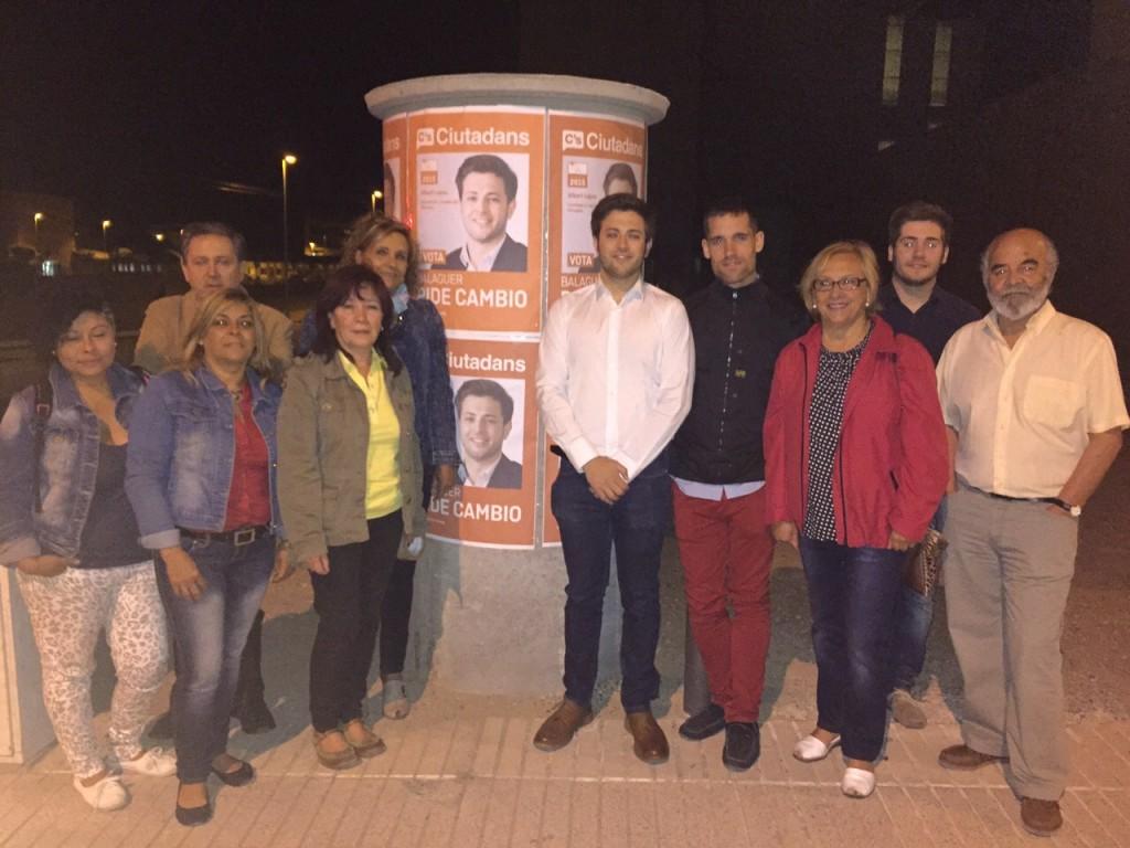 Membres de Ciutadans amb Albert López (Autor: Ciutadans Balaguer)