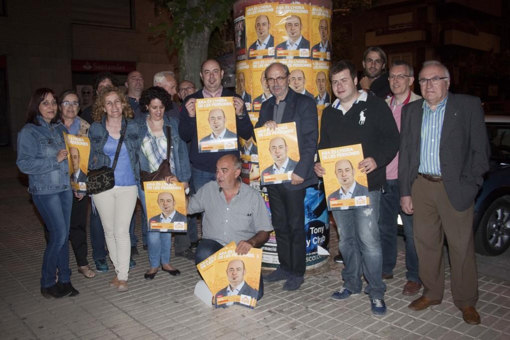 Equip d'ERC Balaguer amb Jordi Ignasi Vidal i Joan Biscarri (Autor: Rosa Ma Sauret)