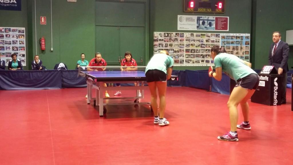 Moment del partit de dobles (Foto: Rosa Maria Sauret)