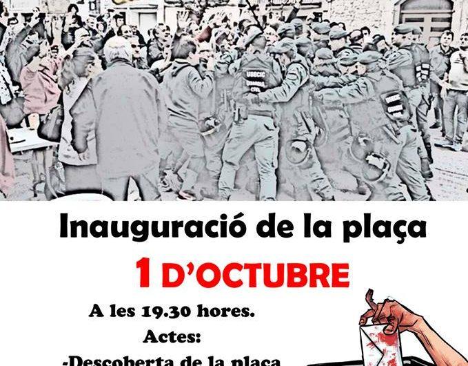 Bellcaire d'Urgell inaugura la plaça 1 d'Octubre el proper dilluns