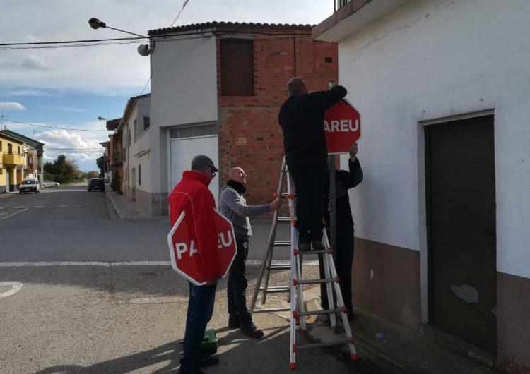 Tornen a arrencar els senyals de 'Pareu' a Torrelameu després de ser reposats aquest dissabte