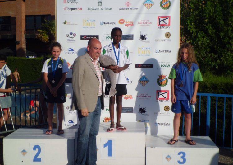 Una medalla d'or i cinc finalistes del CEN Balaguer al Campionat de Catalunya Benjamí de Natació