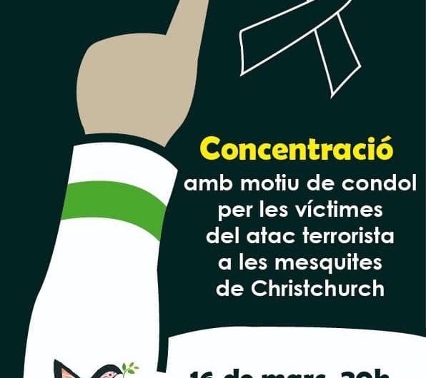 Chabab al Amal convoca una concentració de rebuig a l'atemptat terrorista contra dues mesquites a Nova Zelanda