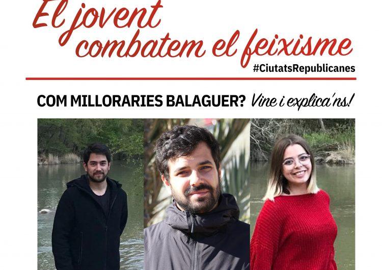 El Jovent Republicà de Balaguer convida a Ruben Wagensberg per debatre sobre cohesió social a Balaguer