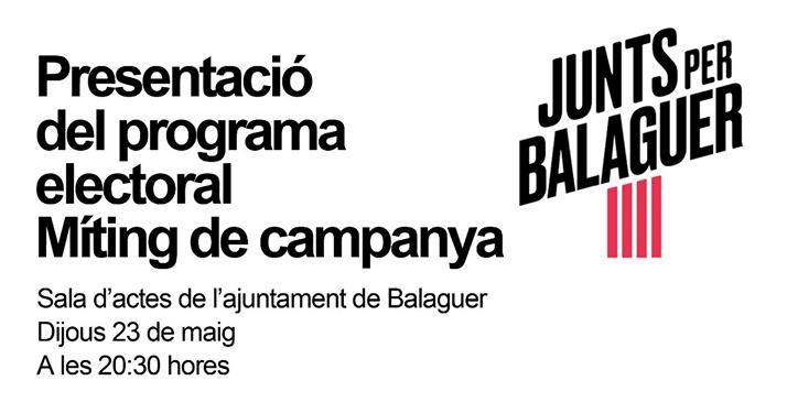Junts per Balaguer celebra l'acte central de campanya amb la presència de Gorka Knör