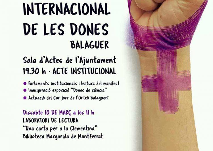 Balaguer s'afegeix als actes commemoratius del Dia Internacional de les Dones
