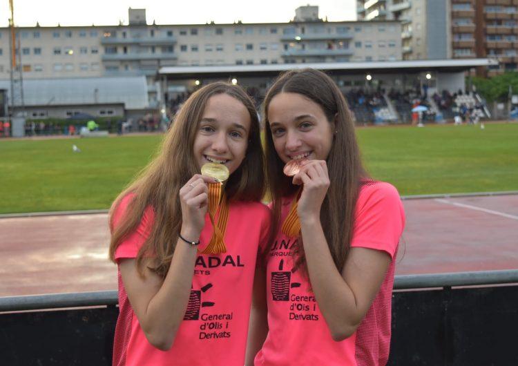 Aida i Andrea Alemany pugen al podi del Campionat de Catalunya sub18