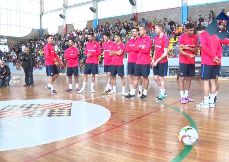 Exhibició del Barça Lassa de futbol sala a Balaguer
