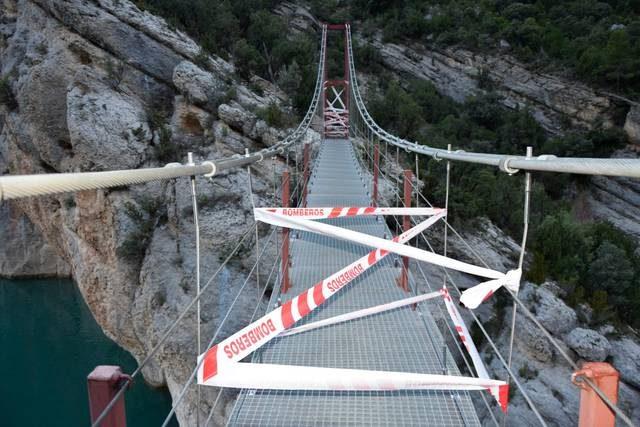 Tancat el pont del Congost de Mont-rebei per seguretat