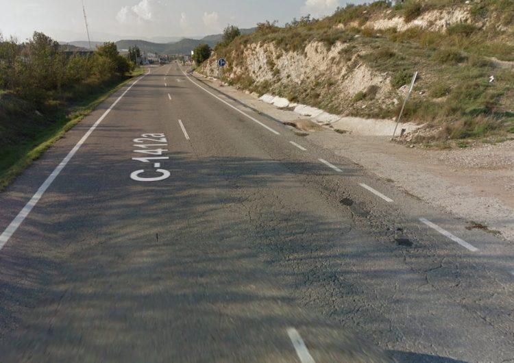 380.000 euros per  la C-1412a entre Ponts i Oliola