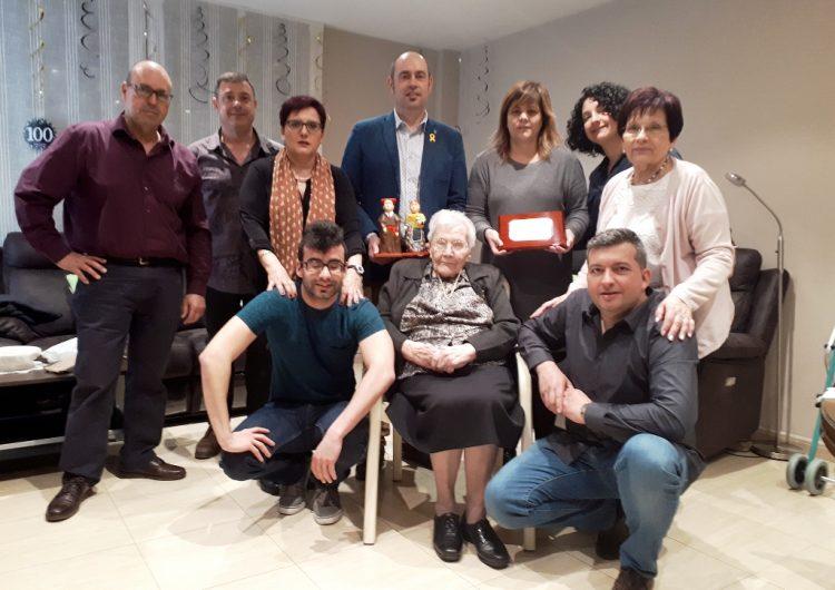 Reconeixement a la centenària balaguerina Montserrat Profitós i Boladeres