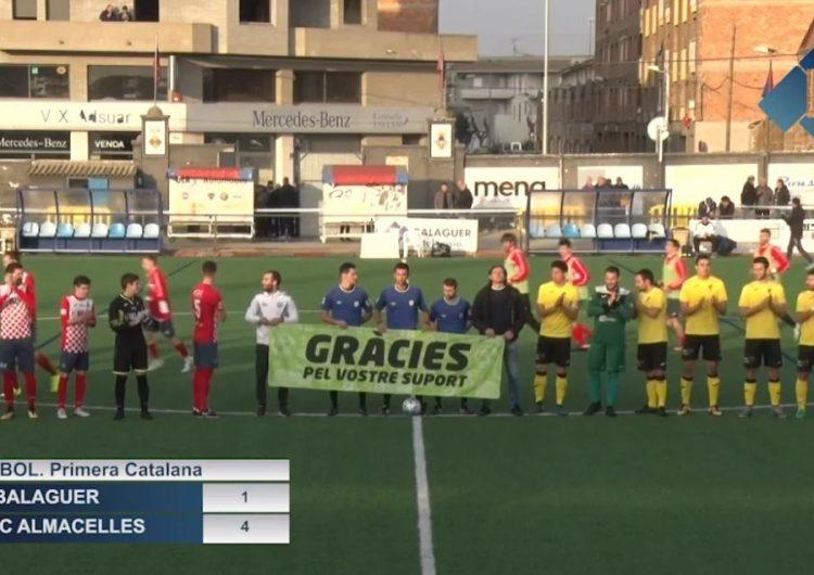 El CF Balaguer s'enfonsa una mica més després de caure golejat contra l'EFAC Almacelles