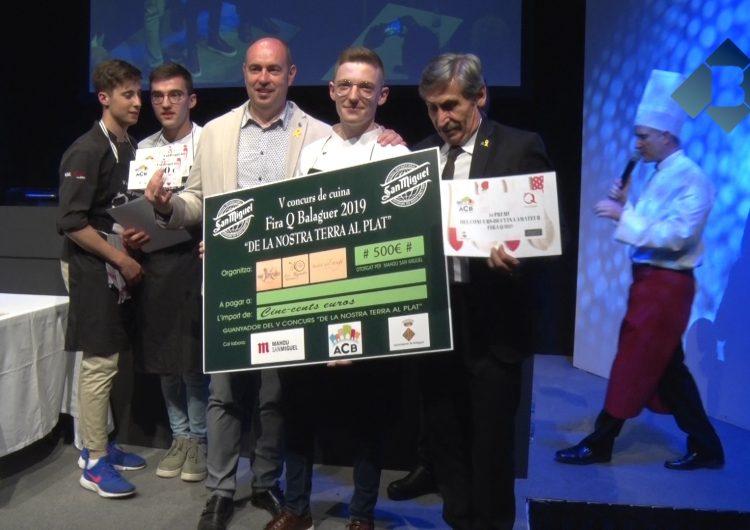 """Frederick Wilheim guanya el 5è concurs de cuina de Fira Q """"De la nostra terra al plat"""""""