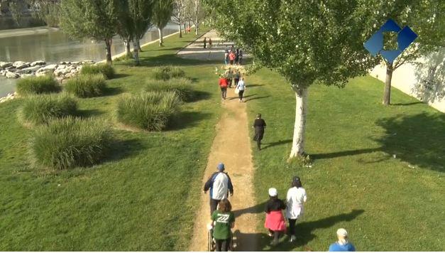 Caminada popular per incentivar l'activitat física
