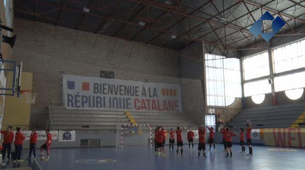 La selecció catalana es prepara pel partit contra l'Argentina