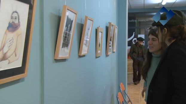 La jove artista lleidatana Eugenia González Mayer exposa a l'Escola Ermengol de Balaguer