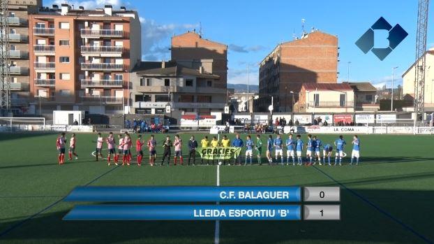 Dura derrota del Balaguer davant del Lleida 'B' en un partit molt igualat