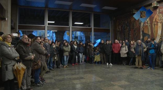 Concentració convocada per Som Escola en defensa de l'escola catalana