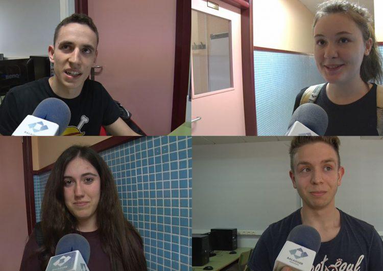 Els alumnes de Balaguer es preparen per les proves d'accés a la universitat