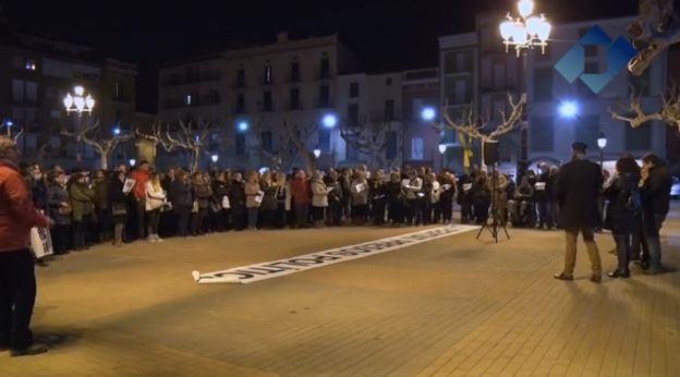 Desenes de balaguerins demanen llibertat per Junqueras, Forn, Sànchez i Cuixart