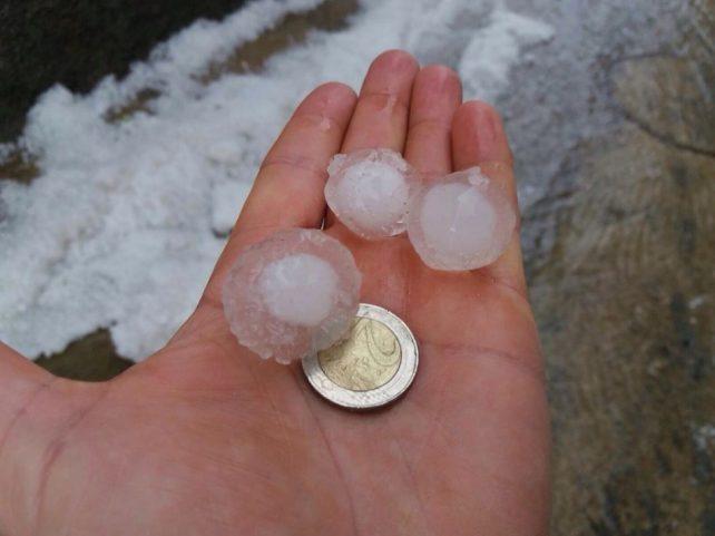 Precipitacions en forma de pedra a la Noguera
