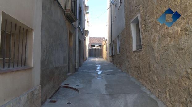 Apareixen una sitja i un trull a Montgai mentre es rehabilita un carrer