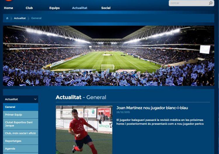 El balaguerí Joan Martínez fitxa pel RCD Espanyol