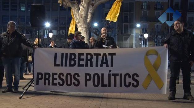 Concentració a Balaguer convocada per Taula per la Democràcia