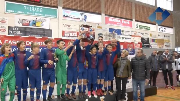 El F.C.Barcelona guanya la Copa Ciutat de Balaguer, 1r Memorial Yerai Darias