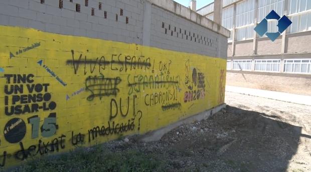 """El CDR Balaguer pintarà un mural  per reivindicar el nom """"Pavelló 1 d'octubre"""" pel poliesportiu"""