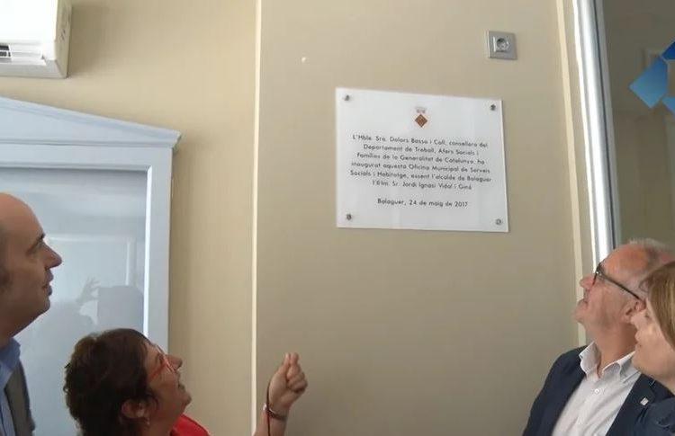 La consellera Dolors Bassa inaugura el nou edifici dels serveis socials de Balaguer