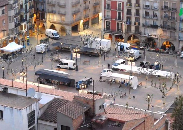 Un time-lapse mostra com es munta i desmunta el Mercat de Balaguer