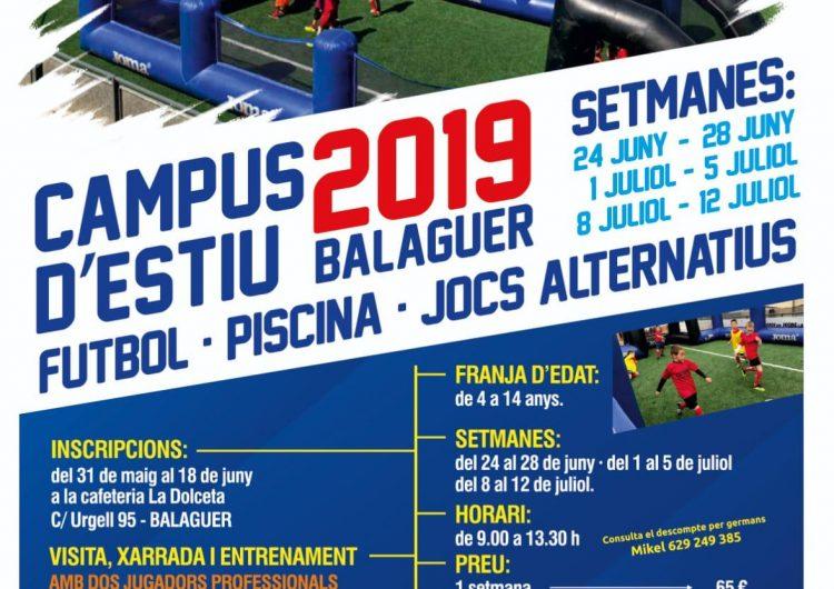 El CF Balaguer prepara el seu campus d'estiu que comptarà amb la presència de jugadors professionals de la Lliga Santander