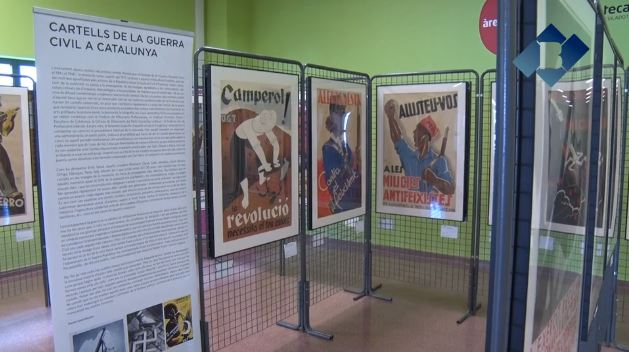 La biblioteca d'Artesa de Segre acull una exposició de cartells de la Guerra Civil