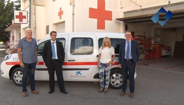 Creu Roja la Noguera presenta un nou vehicle gràcies a la col·laboració amb l'Obra Social La Caixa