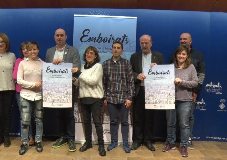 """Balaguer presenta """"Emboirats"""" el primer cicle d'hivern d'espectacles familiars"""