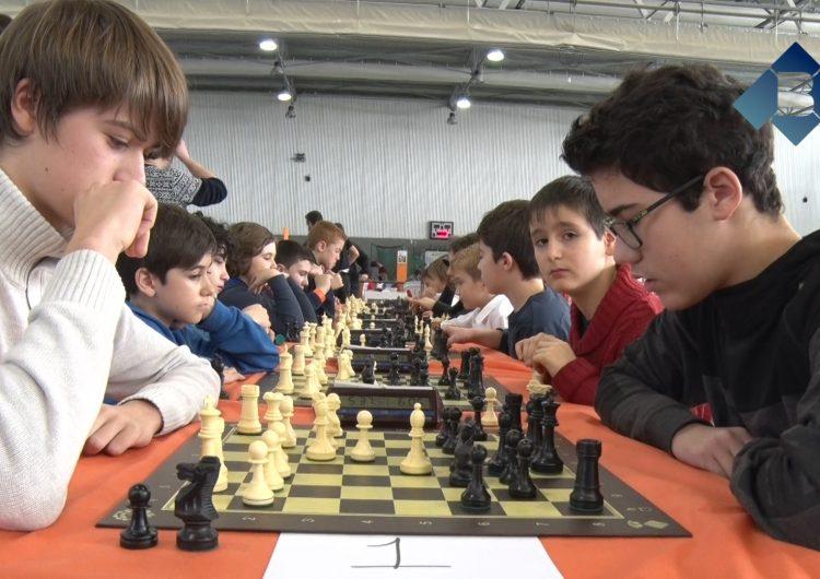 El Club Escacs Balaguer organitza un torneig al Parc de Nadal per promocionar aquest esport entre els joves