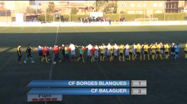 El CF Balaguer es retroba amb la victòria en el derbi contra el CF Borges Blanques
