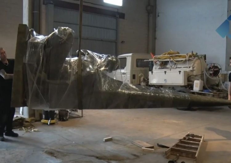 L'escultura de Genaro Iglesias marxa cap a Venècia