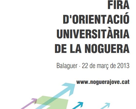 Més de 250 estudiants de Batxillerat i totes les universitats catalanes participaran el proper divendres a la Fira d'Orientació Universitària de la Noguera