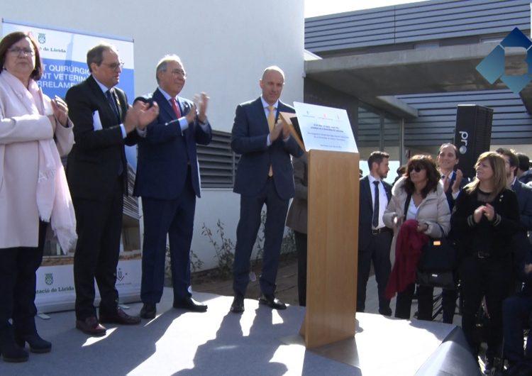 El president Quim Torra inaugura el nou edifici d'Unitat Quirúrgica Docent de la UdL a Torrelameu