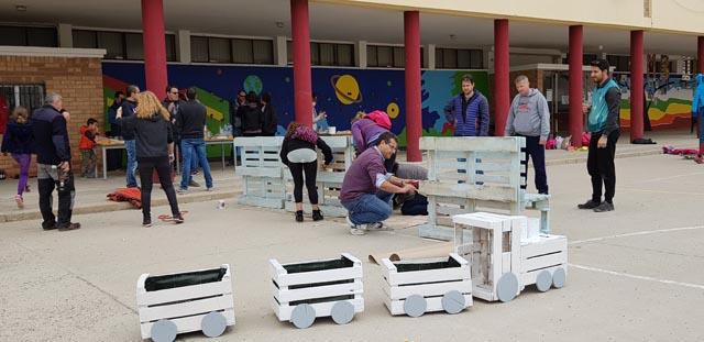 L'Escola Gaspar de Portolà realitza la 2a fase de millora del pati escolar