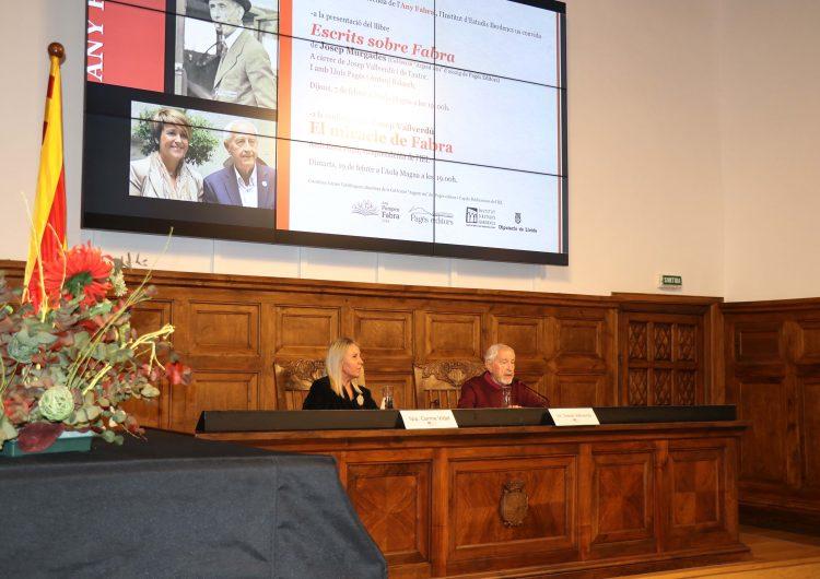Josep Vallverdú glossa la figura de Fabra a l'Institut d'Estudis Ilerdencs