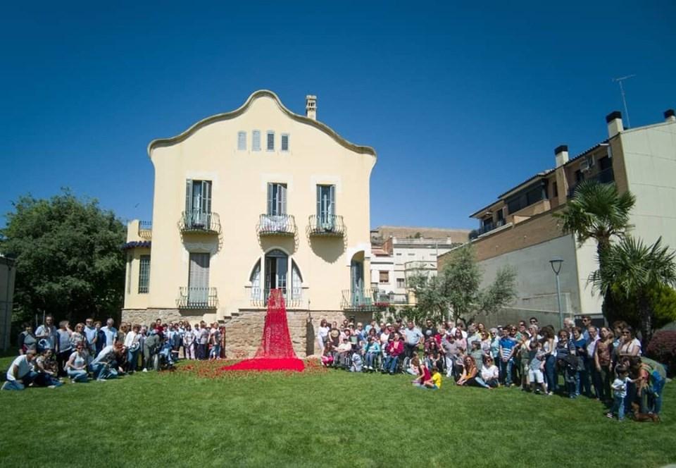 L'Associació l'Estel celebra el 40è aniversari de l'entitat i el 25è del club amb una acció al Xalet Montiu