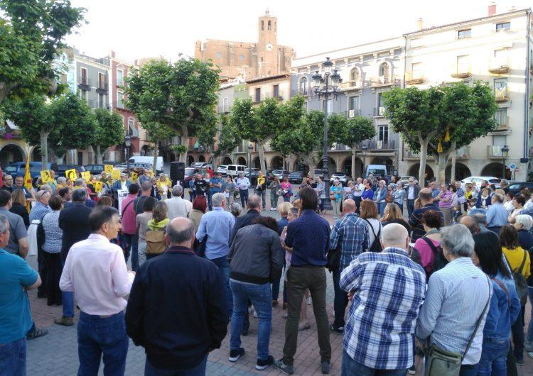 Concentració a Balaguer amb motiu del final del judici per l'1-O per reclamar la llibertat dels presos