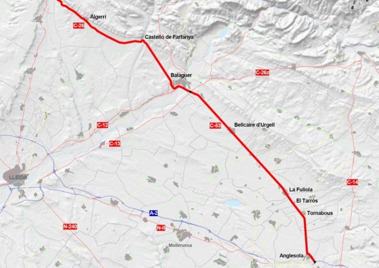 Territori adjudica les obres per millorar les travesseres de la C-53 i la C-26 entre Anglesola i Algerri